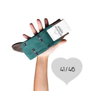 AmorSocks-calcetines-socks-mandos-nintendo-nes-verde-botella-marrón-chocolate-cuadrada