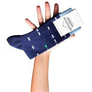 AmorSocks-calcetines-socks-marcianitos-arcade-azul-marino-blanco-verde-cuadrada