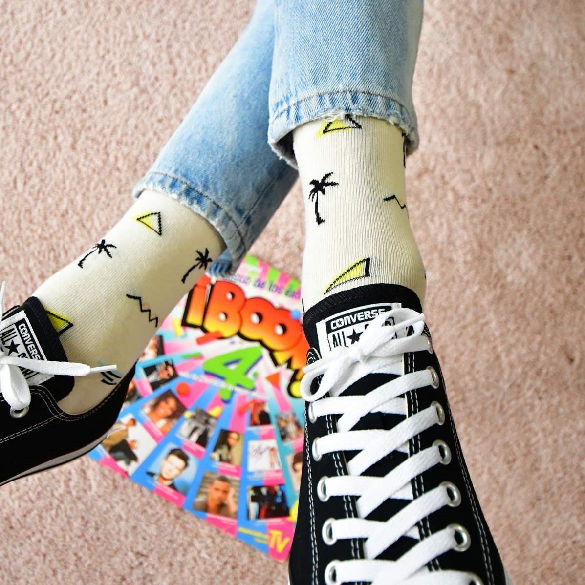 amorsocks-calcetines-socks-miami-palm-palmbeach-beige-palmeras-90s-coleccion