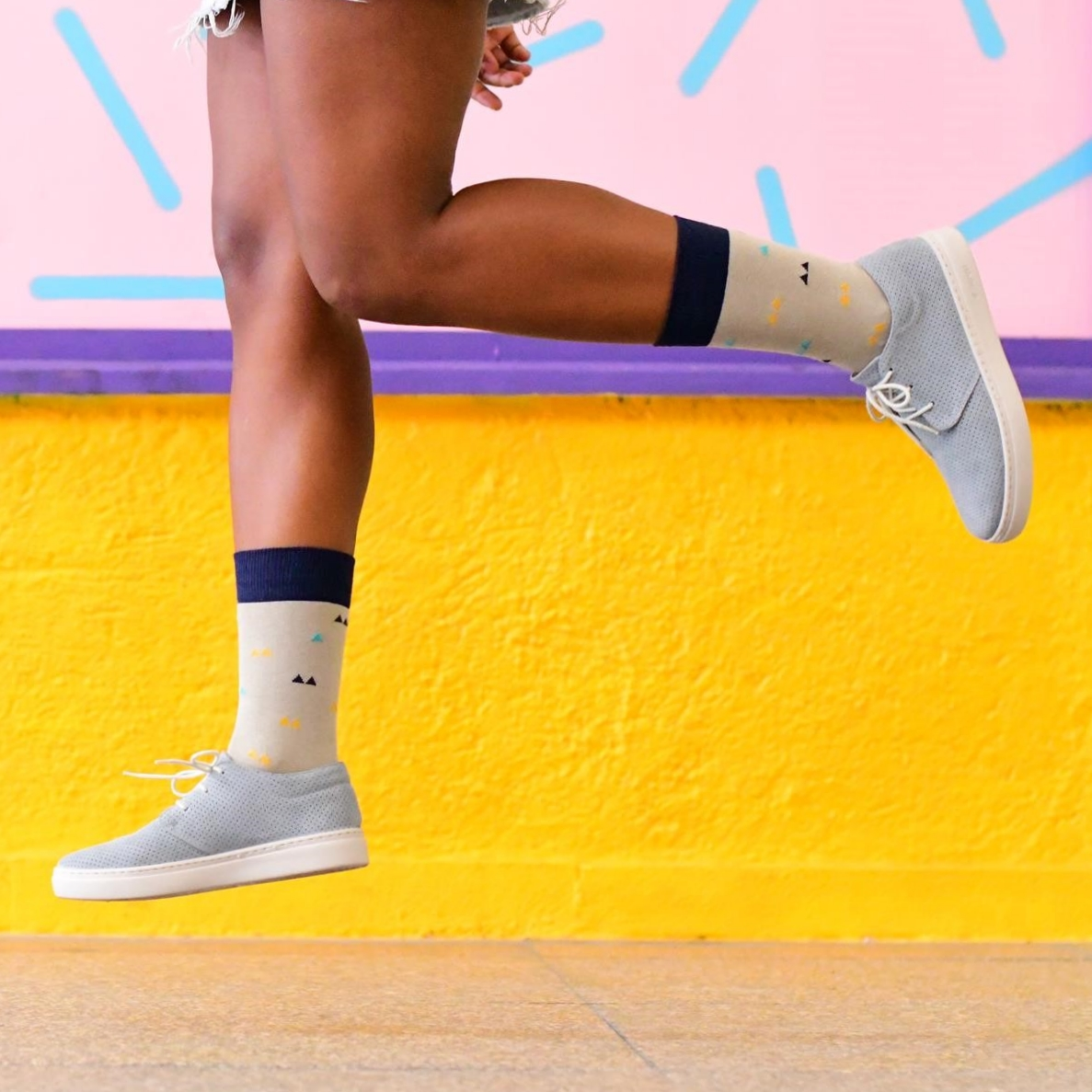 AmorSocks-calcetines-socks-colaboracion-barqet-triangulos-paradigma-topo-verde-azul-amarillo-series-limitadas