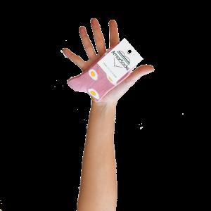 amorsocks-calcetines-socks-caña-baja-rosa-pink-huevos-fritos-eggs-kids-niños-niñas-cuadrado