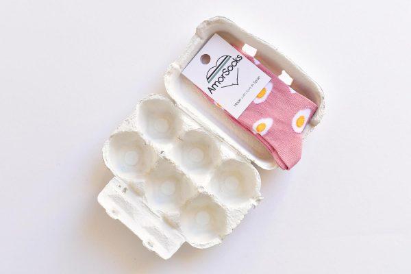 amorsocks-calcetines-socks-huevos-fritos-rosa-egg-niños-niñas-kids