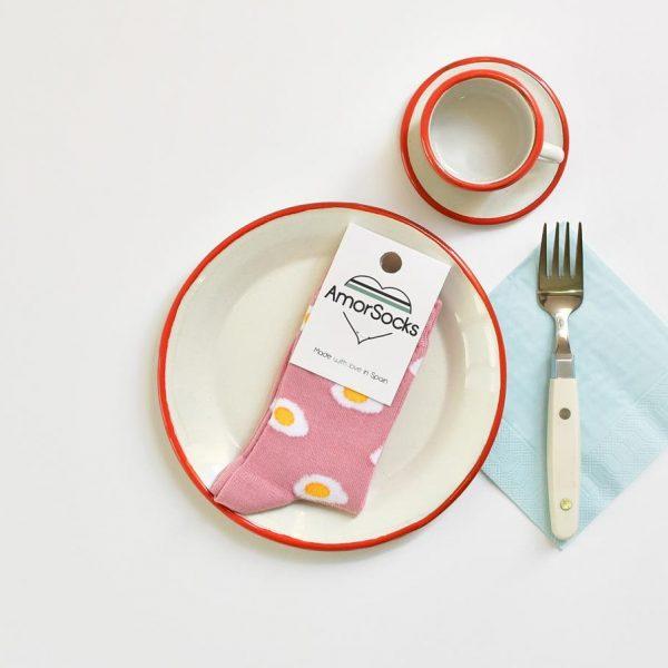 amorsocks-calcetines-socks-huevos-fritos-rosa-egg-niños-niñas-kids-pack