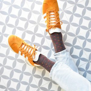 amorsocks-calcetines-socks-lunares-topos-marron-brown-marron-azul-blue-rosa-pink-naranja-orange