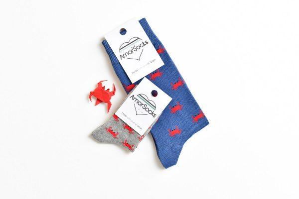 AmorSocks-calcetines-socks-cangrejos-cangrejo-marisco-grab-azul-blue-producto