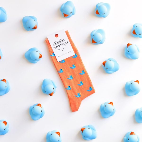 AmorSocks-calcetines-socks-patos-patitos-de-goma-ducks-rubber-ducks-coral-azul-blue