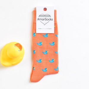 AmorSocks-calcetines-socks-patos-patitos-de-goma-ducks-rubber-ducks-coral-azul-blue-pack