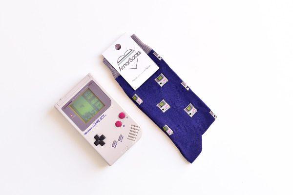 AmorSocks-calcetines-socks-video-game-game-boy-nintendo-nes-consola-retro-80s-90s-navy-azul-marino-blue