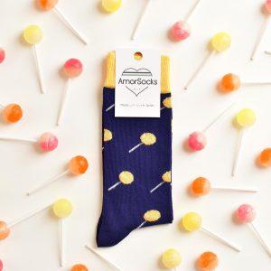 amorsocks-calcetines-socks-chupachus-chupachups-caramelos-limon-lemon-navy-azul-marino