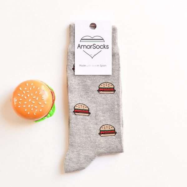 amorsocks-calcetines-socks-amorburger-grey-gris-hamburguesa-hamburger-burger