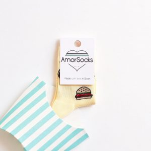 amorsocks-calcetines-socks-amorburger-kids-amarillo-light-yellow-hamburguesa-hamburger-burger-niños-niñas