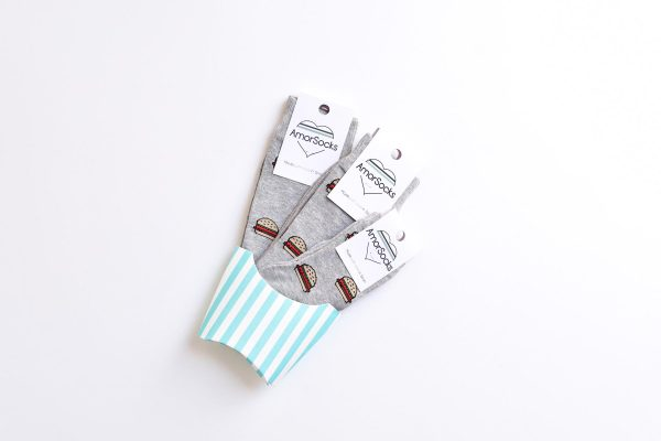 amorsocks-calcetines-socks-amorburger-kids-gris-grey-hamburguesa-hamburger-burger-niños-niñas