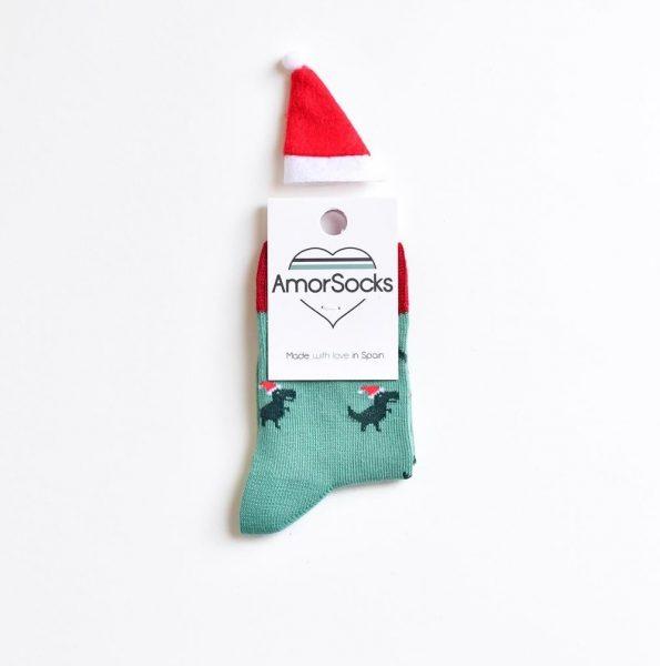 AmorSocks Dinos Noel Kids dinosaurio navidad niño