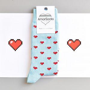 amorsocks-calcetines-socks-corazon-8-bits-heart-zelda-azul-celeste-corazones-rojos
