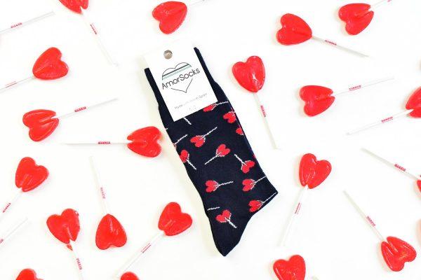 amorsocks-calcetines-socks-piruletas-navy-lollipops-caramelos-azul-marino-piruletas-rojas