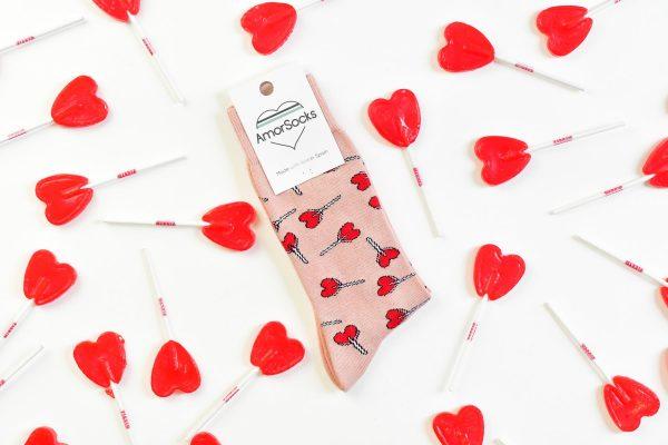 amorsocks-calcetines-socks-piruletas-nude-lollipops-caramelos-rosa-pink-piruletas-rojas