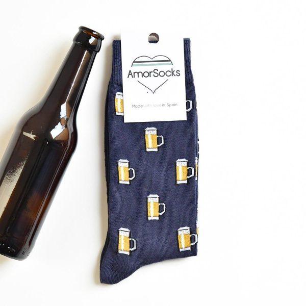 amorsocks-calcetines-socks-amorbeer-navy-beer-jarras-de-cerveza-azul-marino
