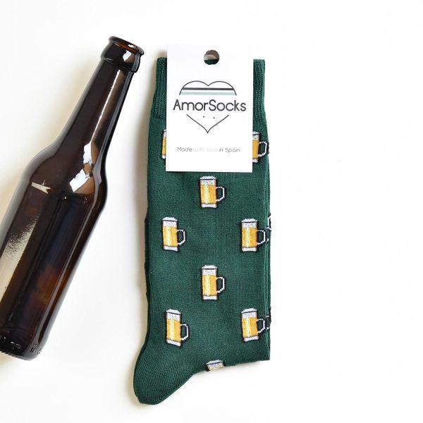 amorsocks-calcetines-socks-amorbeer-verde-botella-beer-jarras-de-cerveza-green